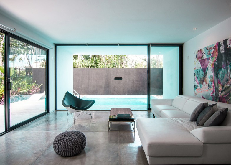 Minimalist house with two floors, simple facade design and chord colors 5