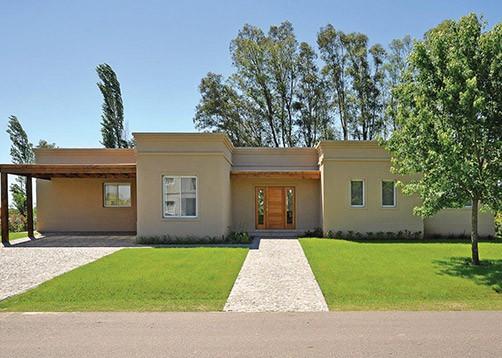 Casa tipo campo de estilo cl sico mundo fachadas for Casa estilo campo moderno