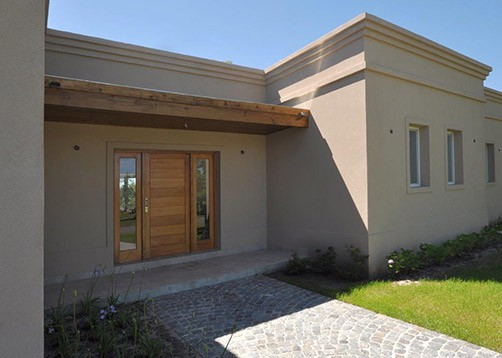 Casa tipo campo de estilo cl sico mundo fachadas for Portal de arquitectos casa de campo