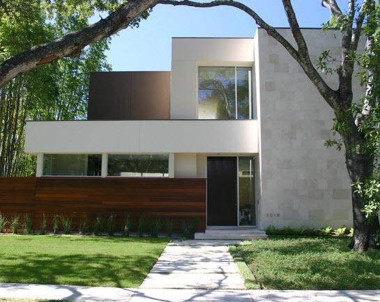 Fachadas de piedra en casas diseño moderno 2