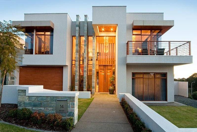 Fachadas de piedra en casas diseño moderno 3