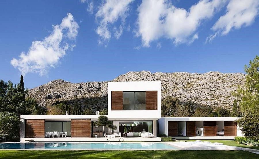 Estilo contempor neo mostramos dise o de fachadas y - Tipos de fachadas ...