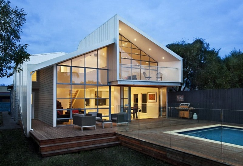 Casa Híbrida shows how, through a renovation, it becomes a modern two-story house 1
