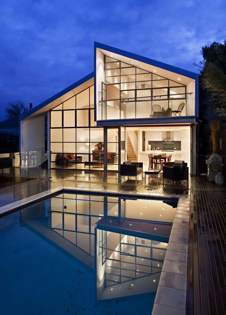 Casa Híbrida mostramos como mediante una renovación se convierte en una moderna vivienda de dos pisos 3