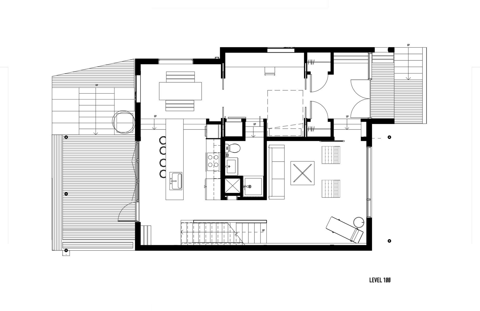 Casa con fachada met lica y construcci n ligera for Planos y diseno de muebles
