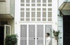 Casa pequeña construida en 46 metros cuadrados, diseño interior y planos