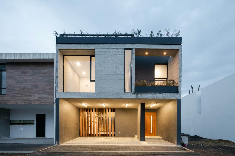 Dise o de casa r stica moderna con planos e interiores for Diseno de fachadas minimalistas