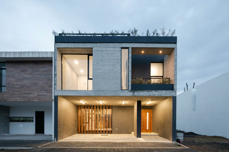Dise o de casa r stica moderna con planos e interiores for Casa moderna y rustica