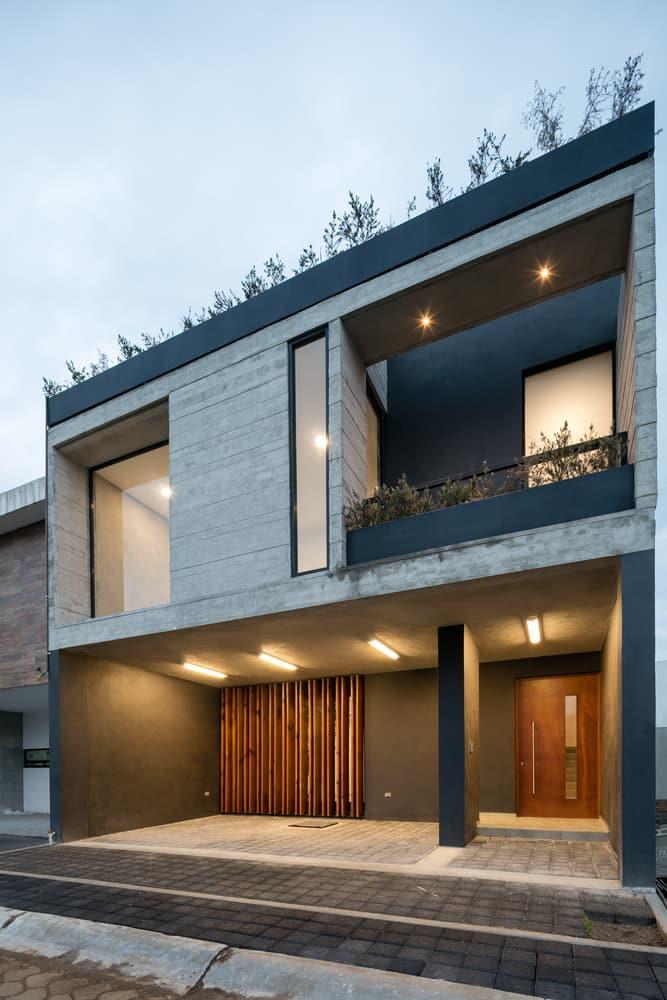 Dise o de casa r stica moderna con planos e interiores for Casa moderna rustica