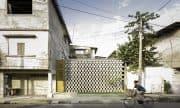 La casa entre bloques, simple diseño de interior y planos