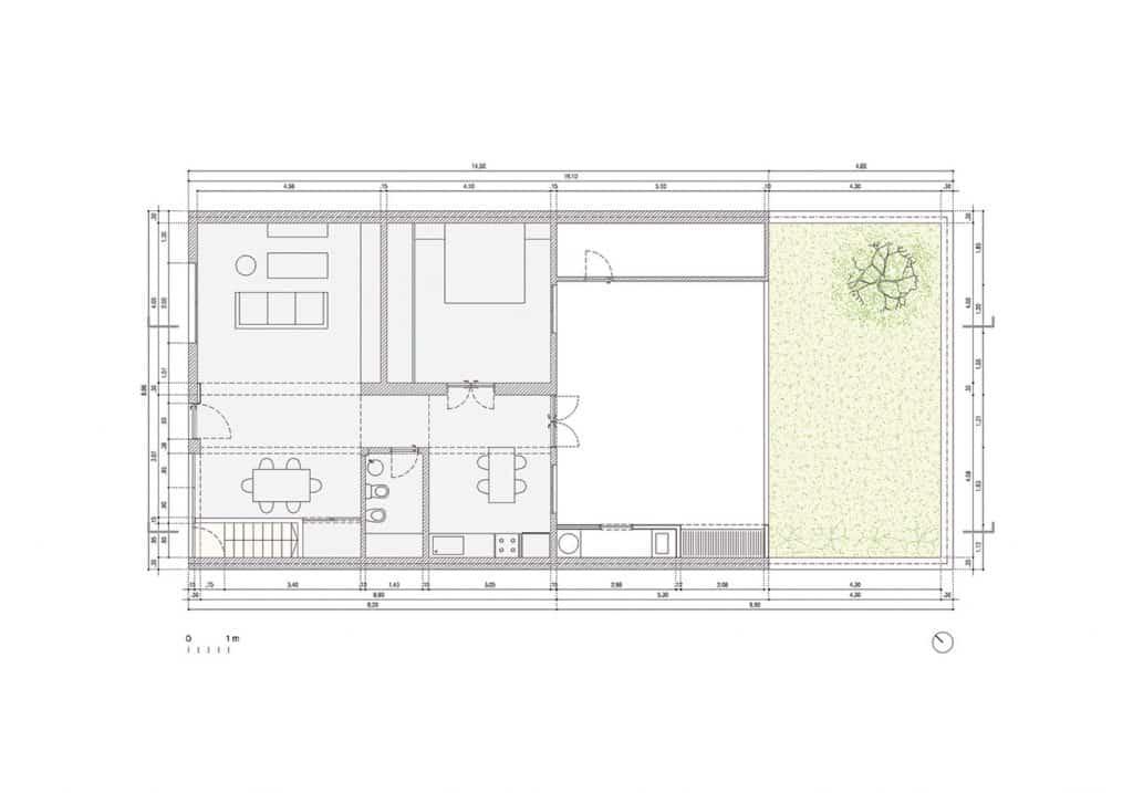 Planta casa minimalista plano de casa minimalista for Vivienda minimalista planos