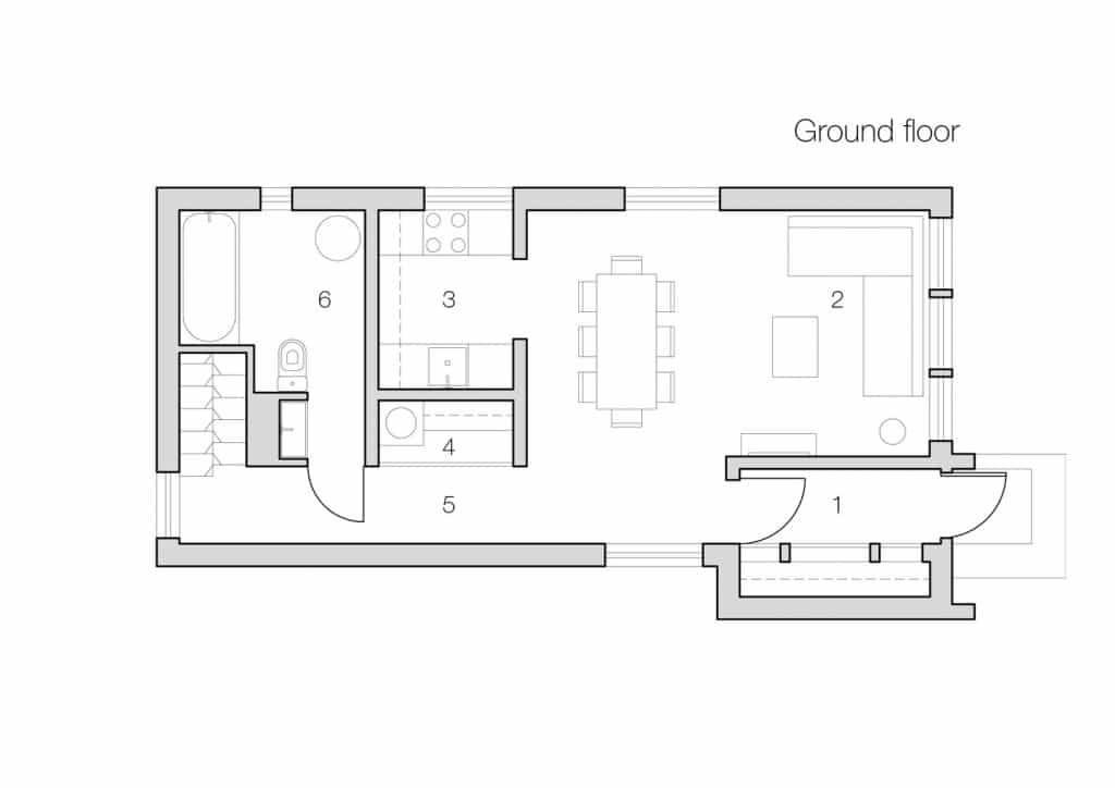 Innovadora vivienda de bajo presupuesto dise o de for Diseno de interiores nota de corte