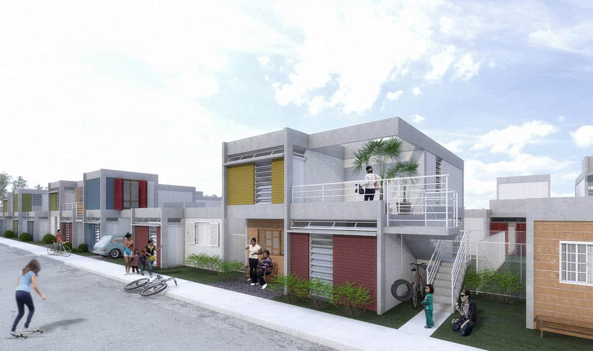 Propuesta para construcciones modernas asequibles te for Planos casas pequenas modernas