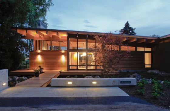 Parte 2 casas de campo con fachadas y planos conoce for Casa procrear clasica techo inclinado 3 dormitorios