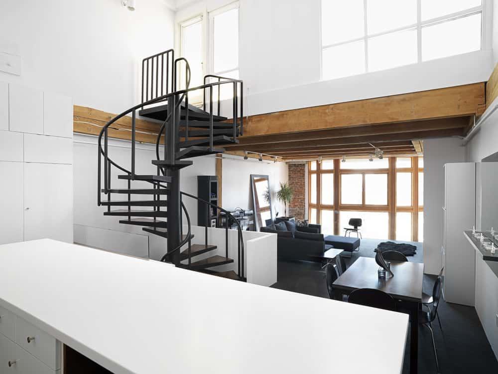 Loft moderno con interiores minimalistas presentamos su diseo y