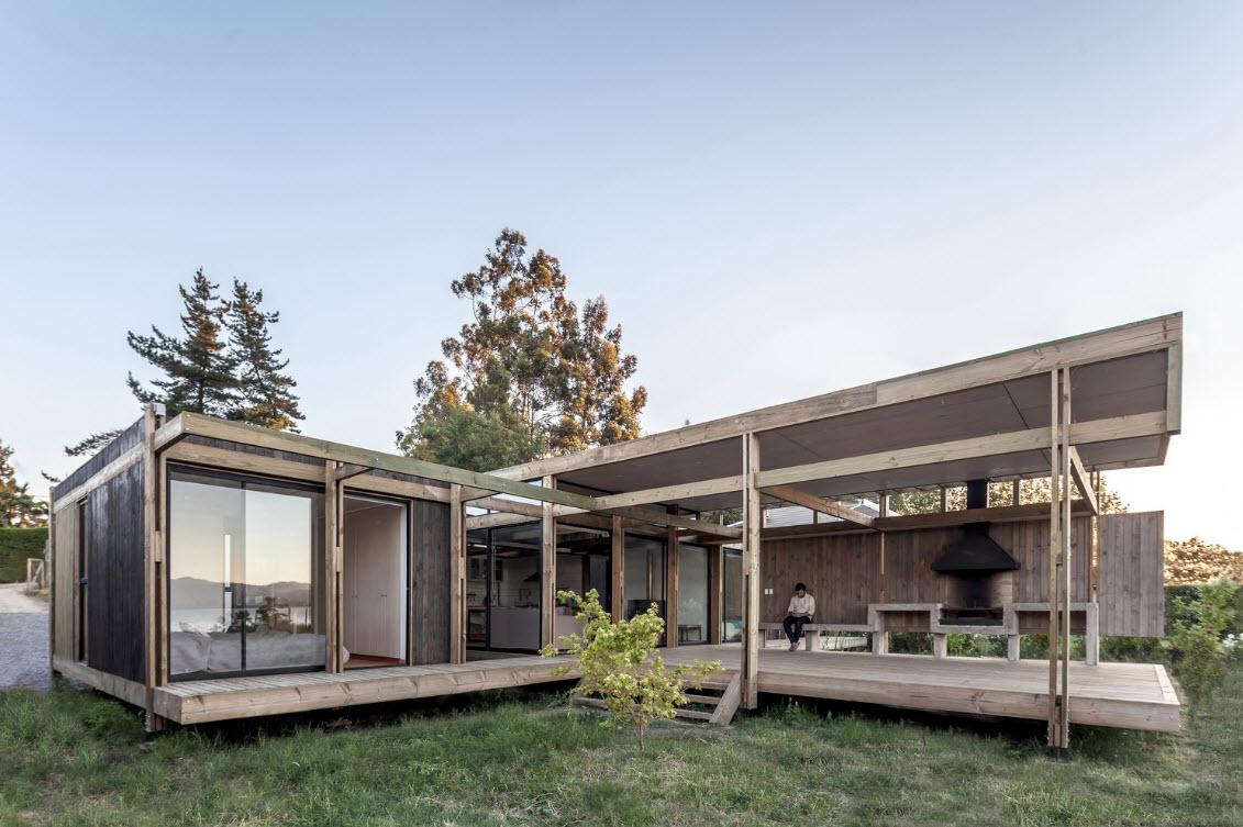 Casa de campo construida con madera, enseñamos una construcción con ...