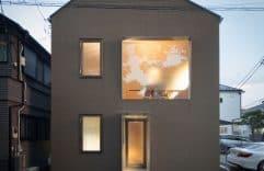 Casa de estilo japones, conoce su diseño interior moderno en madera, y planos.