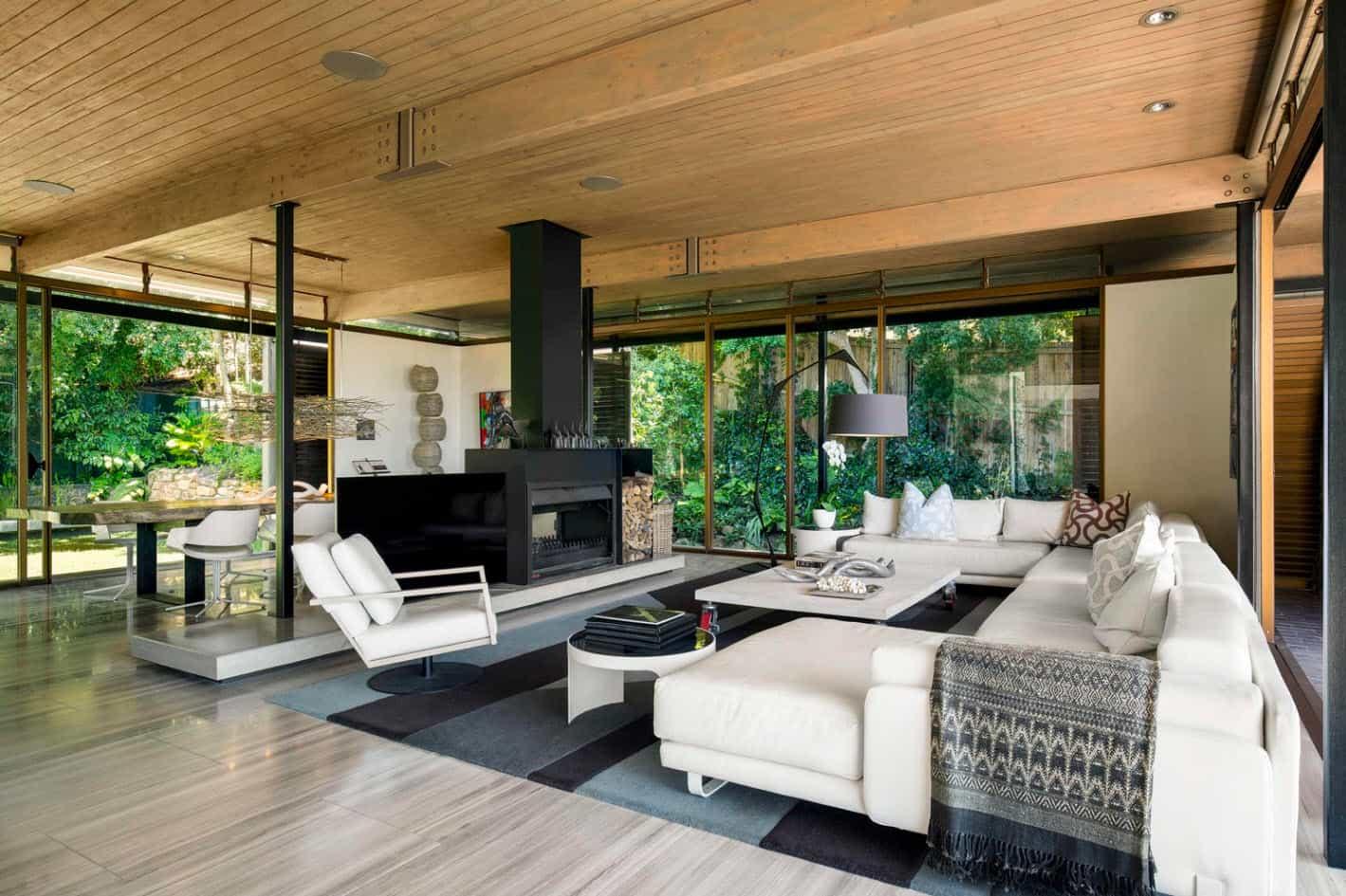 moderna casa de monta a con vistas impresionantes a la ciudad mundo fachadas. Black Bedroom Furniture Sets. Home Design Ideas