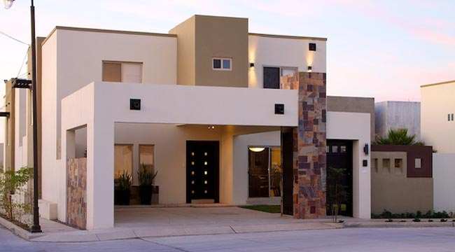 Diseos de fachadas de casas de una y dos plantas nos adentramos en