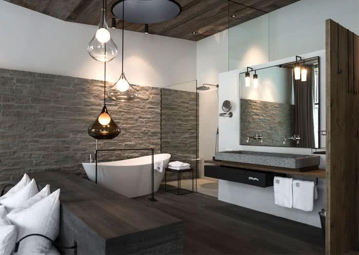 Dise o de dormitorios modernos retro y con ba o en suite for Case con due master suite