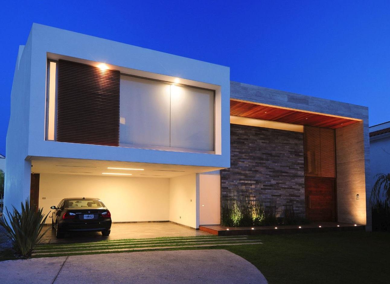 Diseños de fachadas de casas de una y dos plantas, nos adentramos en ...