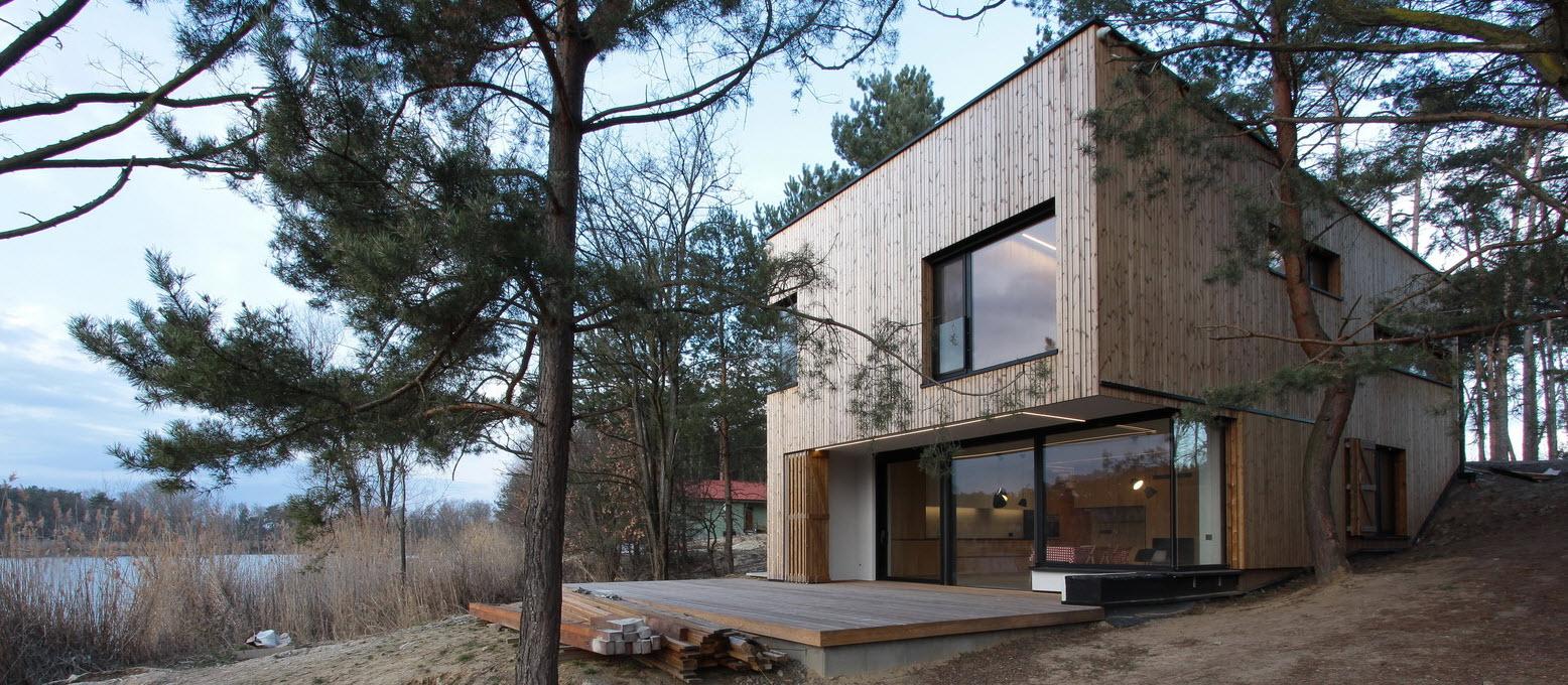 Casa de campo peque a con moderna estructura de madera - Imu 2 casa 2017 ...