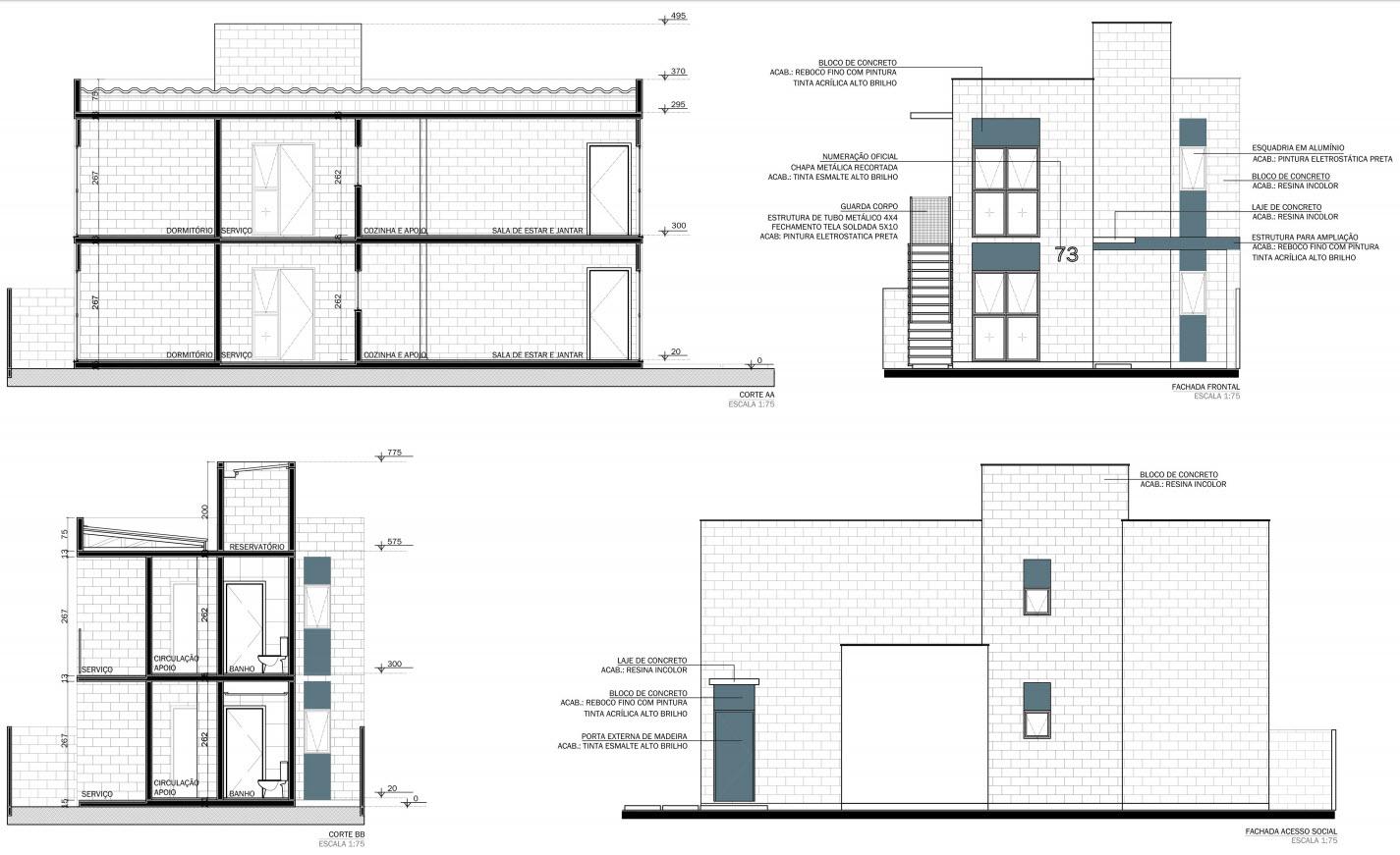 Planos de casas peque as con posibilidad de ampliaci n propuesta arquitect nica moderna mundo - Planos de casas pequenas ...