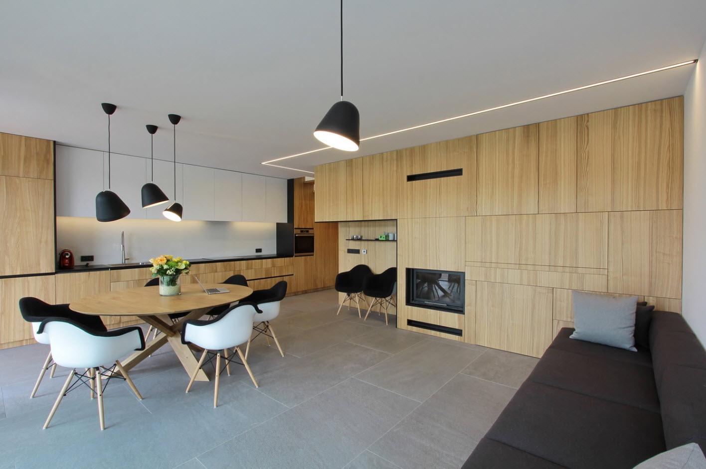 Casa de campo peque a con moderna estructura de madera for Diseno de interiores para oficinas pequenas