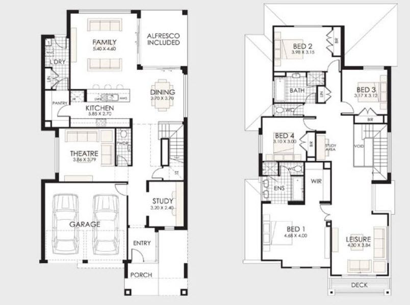 Parte 2 fachadas y planos de casas modernas mundo fachadas for Planos de viviendas unifamiliares