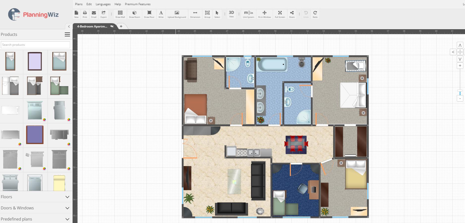 Programa para hacer planos de viviendas Crear plano de casa online