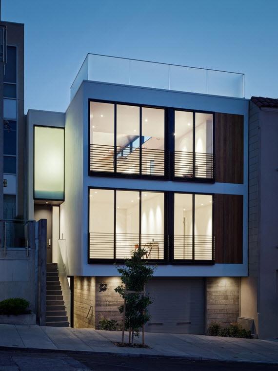 Planos de casa de tres pisos la primer planta puede ser for Fachadas de casas modernas con negocio