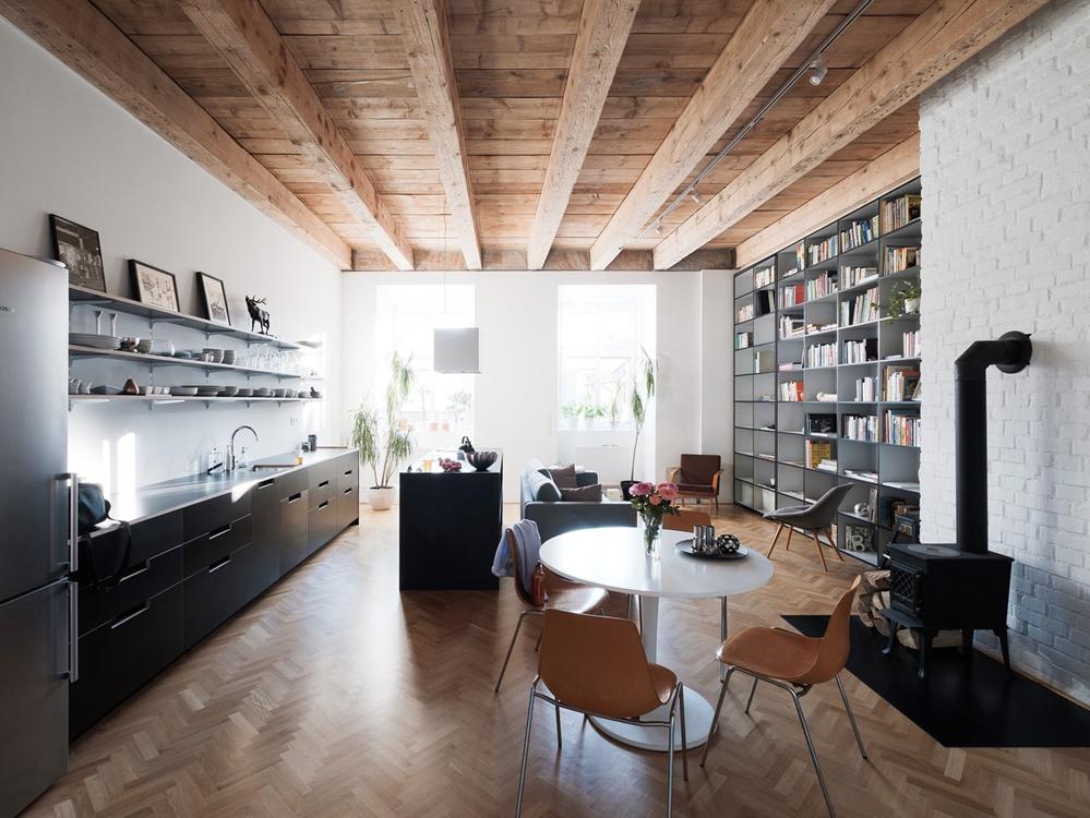 Diseño de departamento pequeño, disfruta de unos acabados de construcción clásico con equipamiento moderno