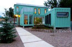 Casa de dos pisos construida con contenedores reciclados, disfrutemos de su interior y exterior moderno a un precio razonable