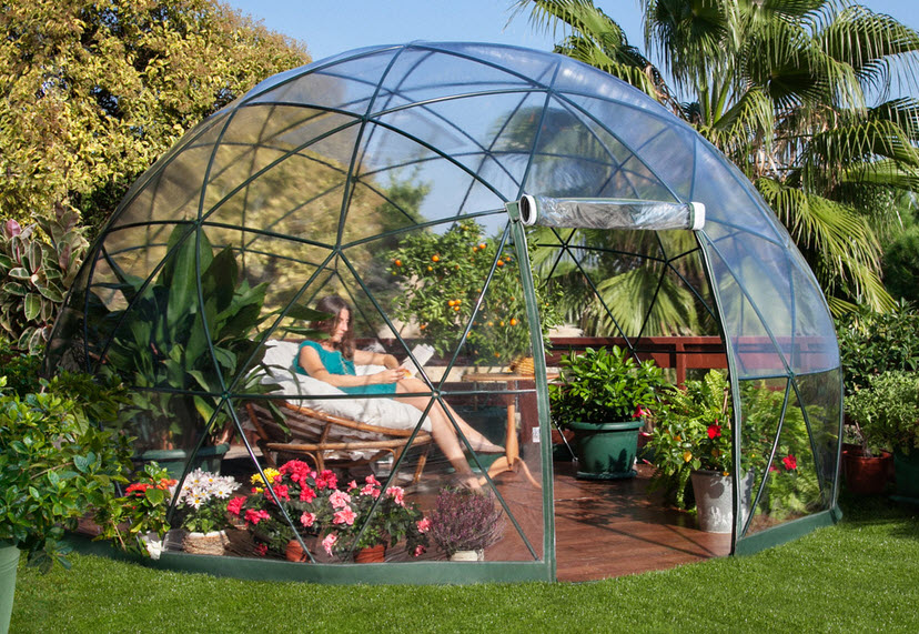 Dise o de domo para jard n o terraza una alternativa - Como disenar una terraza jardin ...