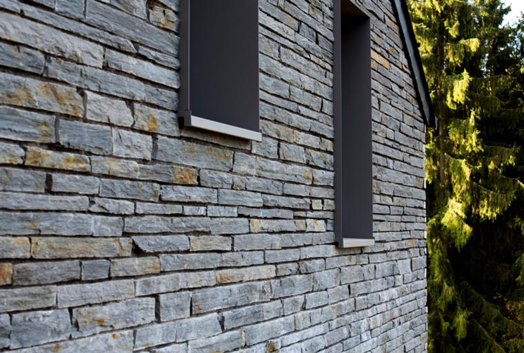 Fachadas de casas de piedra natural el exterior tambi n for Piedra natural para exterior