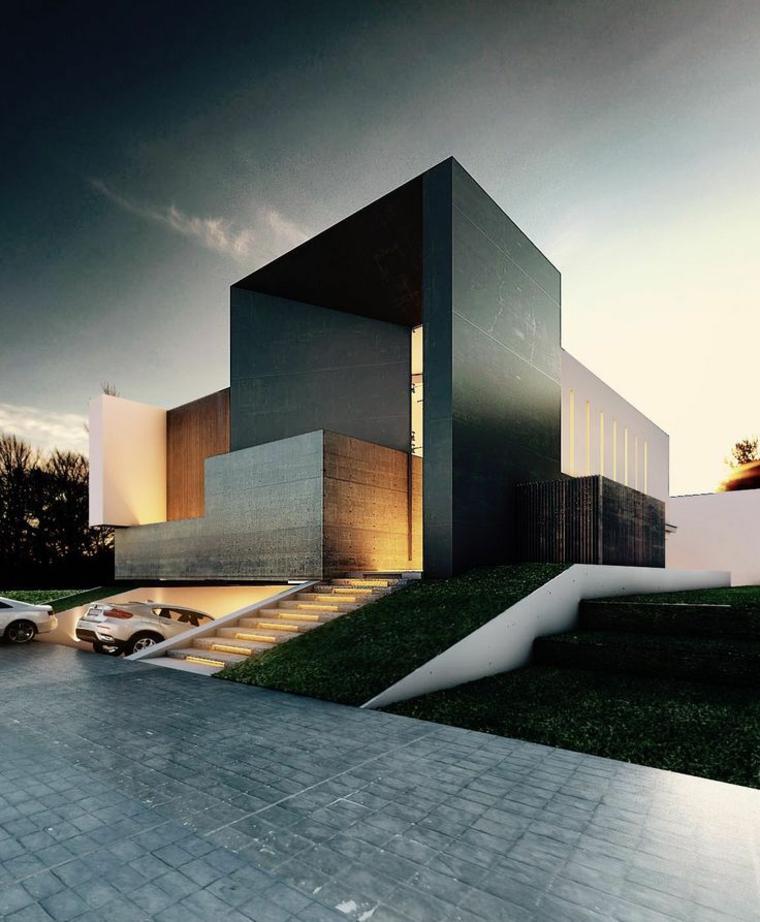 Dise os de casas minimalistas de una planta disfruta de for Diseno de fachadas minimalistas