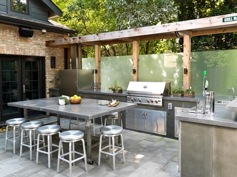 Cocinas modernas al aire libre perfectas para tu jard n for Modelos de cocinas al aire libre