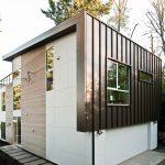 Fachada, diseño interior y planos de una vivienda moderna de dos pisos
