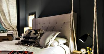 Mesa de noche flotante y muchas otras ideas para ahorrar espacio en tu dormitorio
