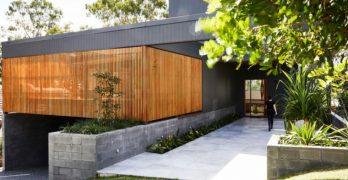 Casa moderna de estilo contemporáneo en Australia, formas de unir la parte exterior con la interior
