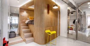 Diseño de apartamento pequeño de 40m² ubicado en Shanghái, diferentes maneras de aprovechar el espacio
