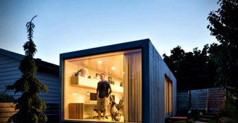 Oficinas modernas – diseño impecable hecho a partir de un contenedor