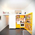 Mini cocina diseñada en un estudio de 23 metros cuadrados