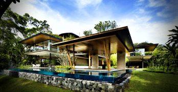 La casa Ficus – construcción con fachada moderna y área ajardinada