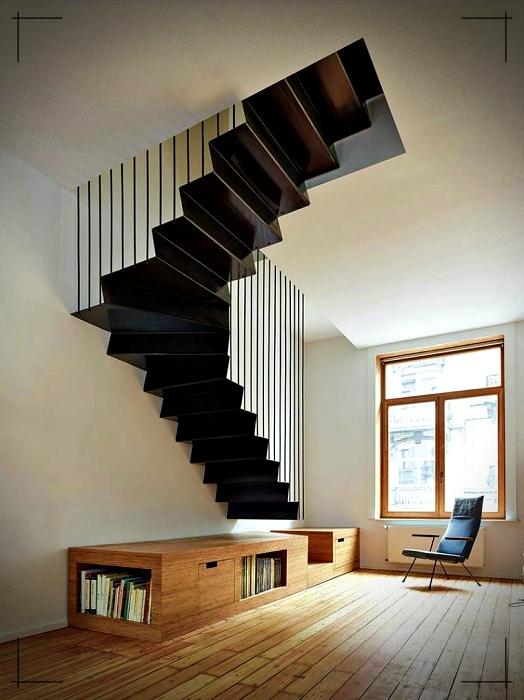 Modelos de escaleras interiores - elementos negros ...
