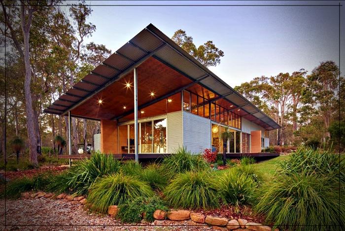 Casa Rural Ecológica Diseño Preparado Para Abastecerse Con Elementos De La Naturaleza Mundo Fachadas