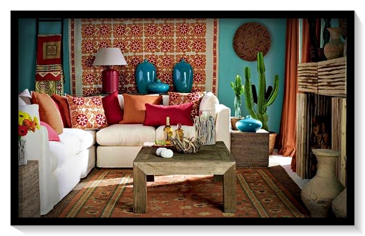 Salas de estar estilo Mexicano - Diferentes maneras de ...