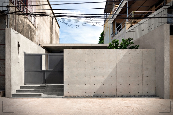 Design of a small house with concrete facade - Simple ... on small house ceiling design, small house sustainability, small house construction, small house interior design, small modern contemporary homes, small house materials, crown asia house design, small house front design, small house architecture, house architecture design, small house exterior design, small house landscaping design, small row house plans, small house floor design, small house architectural design, small house roofs, small house kitchen design, small house windows, small modern narrow house, small house building ideas,