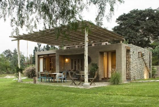 Parte 1 casas de campo con fachadas y planos conoce for Casas campestres rusticas