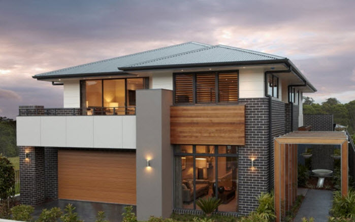 Parte 2 fachadas y planos de casas modernas mundo fachadas for Fachadas de casas para segunda planta